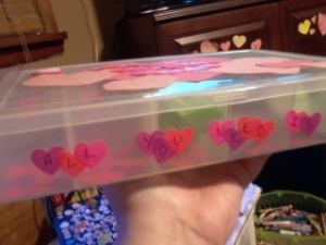 Our Valentine countdown box!