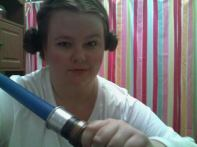 Leia says The Force is strong with this one.