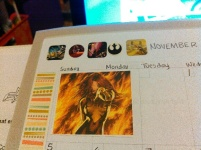 Yes, this is from next year's planner. November is my birthday month, so it ALWAYS gets a Phoenix sticker.